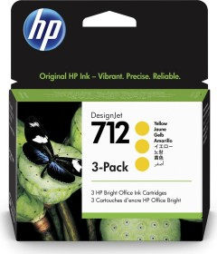HP ink 712 yellow, 3-pack (3ED79A)