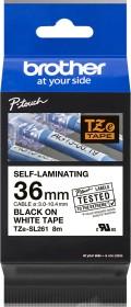 Brother TZe-SL261 Beschriftungsband 36mm, schwarz/weiß (TZESL261)