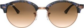 Ray-Ban RB4246 Clubround Fleck 51mm spotted brown-blue-tortoise-black/light brown gradient (RB4246-125651)
