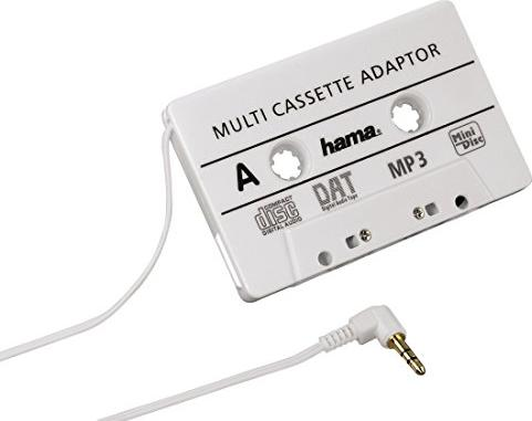 Hama KFZ-Kassettenadapter für MP3-/CD-/MD-Player weiß (14499) -- via Amazon Partnerprogramm