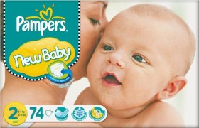 Pampers Premium Protection New Baby Gr.2 Einwegwindel, 3-6kg, 74 Stück