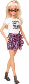 Mattel Barbie Fashionistas Barbie mit pinkem Rock im Tigermuster (GHW62)