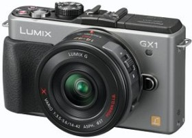 Panasonic Lumix DMC-GX1 silber mit Objektiv Lumix G X Vario PZ 14-42mm 3.5-5.6 OIS (DMC-GX1X)