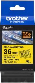 Brother TZe-SL661 labelling tape 36mm, black/yellow (TZESL661)