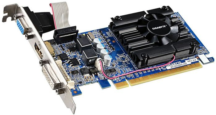 Gigabyte GeForce 210, 1GB DDR3, VGA, DVI, HDMI (GV-N210D3-1GI)