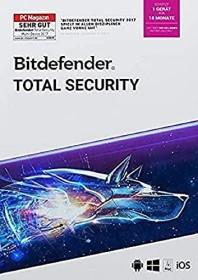 Softwin BitDefender Total Security 2021, 1 User, 18 Monate (deutsch) (Multi-Device) (20-04762)