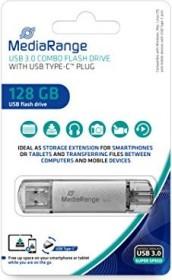 MediaRange Kombo-Speicherstick 128GB, USB-C 3.0/USB-A 3.0 (MR938)