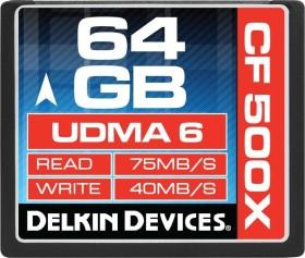 Delkin 500X UDMA6 R75/W40 CompactFlash Card 64GB (DDCF500-64GB)