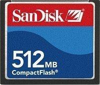 SanDisk CompactFlash Card 512MB (SDCFB-512)