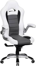 Amstyle Racing Bürostuhl, weiß/grau (SPM1.238)