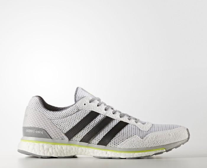 adidas adizero Adios 3 footwear white trace grey metallic solar yellow  (Herren) 7db154283