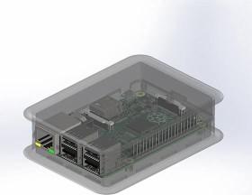 Teko Raspberry Pi 3 Case, transparent (TEK-BERRY3.0)
