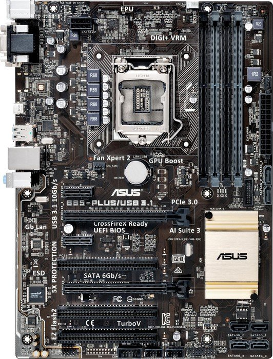 ASUS B85-PLUS/USB 3.1 Vista
