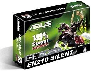 ASUS GeForce 210 (GT218-200-B1) Silent, EN210 SILENT/DI/1GD2(LP), 1GB DDR2, VGA, DVI, HDMI (90-C1CP6A-L0UANAKZ)
