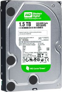 Western Digital WD Caviar Green 1.5TB, 64MB Cache, SATA 3Gb/s (WD15EARS)