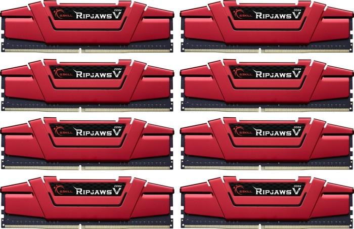 G.Skill RipJaws V rot DIMM Kit 128GB, DDR4-3000, CL14-14-14-34 (F4-3000C14Q2-128GVRD)