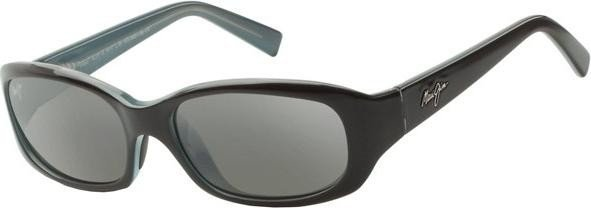Maui Jim 219-03 Schwarz mit Blau Punch Bowl Rectangle Sunglasses Polarised Fishing, Driving Lens Category 3