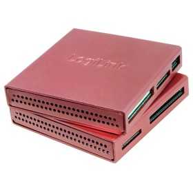 LogiLink Aluminum All-in-One Multi-Slot-Cardreader pink, USB-A 2.0 [Buchse] (CR0019)