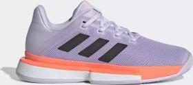 adidas Solematch Bounce Hard Court purple tint/core black/signal coral (Damen) (EG2218)