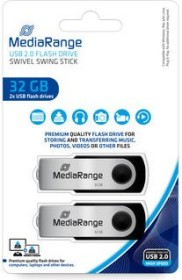 MediaRange USB Flexi-Drive 32GB, USB-A 2.0, 2er-Pack (MR911-2)