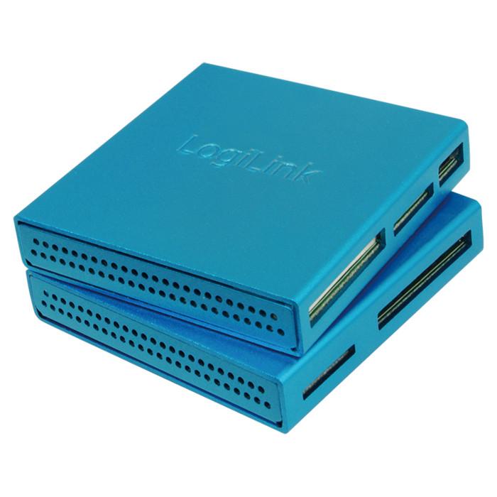 LogiLink All-in-One Cardreader Alu blau, USB 2.0 (CR0020)