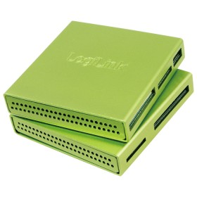 LogiLink Aluminum All-in-One Multi-Slot-Cardreader grün, USB-A 2.0 [Buchse] (CR0021)