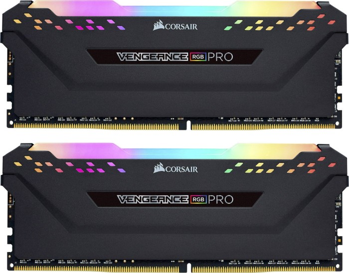 Corsair Vengeance RGB PRO black DIMM kit 16GB, DDR4-2666, CL16-18-18-35 (CMW16GX4M2A2666C16)