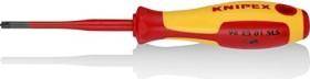 Knipex 98 25 01 SLS VDE Pozidriv/Plus-minus Screwdrivers PZ1x80mm