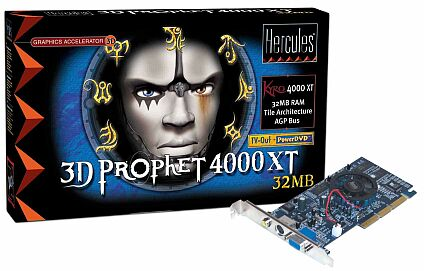 Guillemot / Hercules 3D Prophet 4000 XT, Kyro, 32MB, TV-out, AGP, retail (4761170)