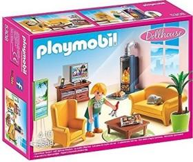 playmobil Dollhouse - Wohnzimmer mit Kaminofen (5308)