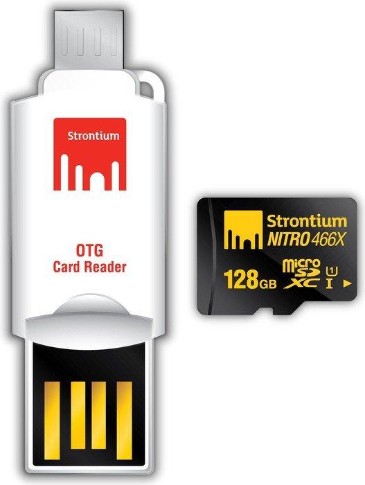 Strontium Nitro 466x R70 microSDXC 128GB Mobile Kit, UHS-I U1, Class 10 (SRN128GTFU1T)