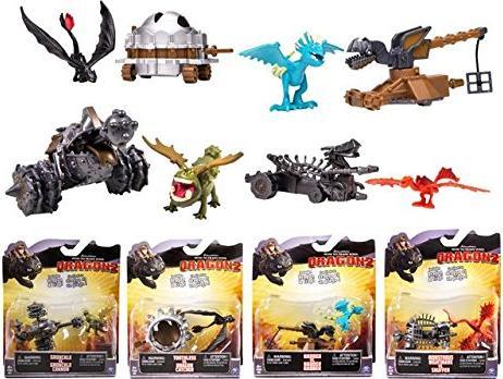 Dragons Drachenzähmen Figuren Set Battle Pack Albtraum Drache vs Snuffer