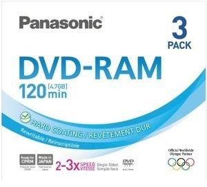 Panasonic DVD-RAM Disk 4.7GB 3x, 3-pack (LM-AF120LE3)