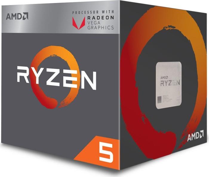AMD Ryzen 5 2400G, 4x 3.60GHz, box (YD2400C5FBBOX)