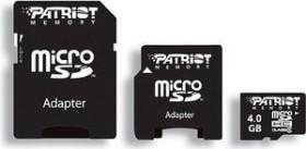Patriot Signature microSDHC 4GB Kit, Class 6 (PSF4GMCSDHC63P)
