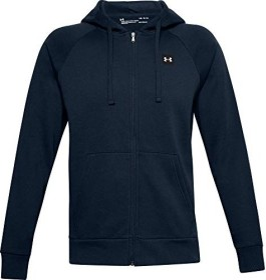 Under Armour Rival Fleece Hoodie Zip Shirt langarm navy (Herren) (1357111-408)