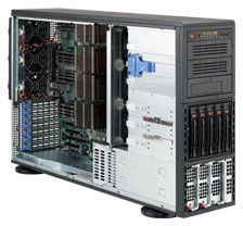 Supermicro SuperChassis 748TQ-R1400B black, 4U, 1400W redundant