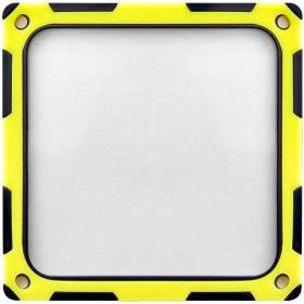 SilverStone FF124BY schwarz/gelb, Staubfilter 120x120mm quadratisch (SST-FF124BY/40138)