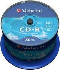 Verbatim Extra Protection CD-R 80min/700MB 52x, 50er-Spindle (43351)