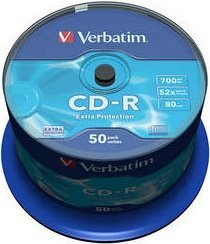 Verbatim Extra Protection CD-R 80min/700MB 52x, 50er-Spindel (43351)