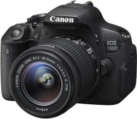 Canon EOS 700D schwarz mit Objektiv EF-S 18-55mm 3.5-5.6 IS STM Value-Up Kit (8596B149)