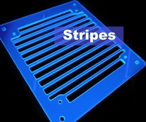 A.C.Ryan RadGrillz stripes 1x120mm acrylic UVBlue (ACR-RG20939)