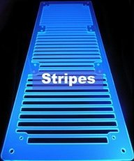 A.C.Ryan RadGrillz stripes 3x120mm acrylic UVBlue (ACR-RG20953)