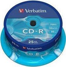 Verbatim Extra Protection CD-R 80min/700MB 52x, 25er-Spindle (43432)
