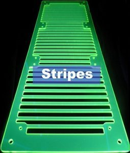 A.C.Ryan RadGrillz stripes 3x120mm acrylic UVGreen (ACR-RG20984)