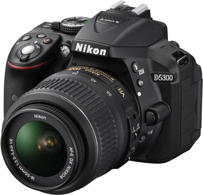 Nikon D5300 black with lens AF-S DX 18-55mm 3.5-5.6G VR (VBA370K001)