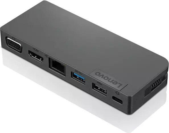Lenovo Powered USB-C Travel Hub, USB-Hub, USB-C 3.0 [Stecker] (4X90S92381)