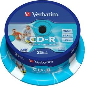 Verbatim Azo CD-R 80min/700MB 52x, 25-pack Spindle printable (43439)