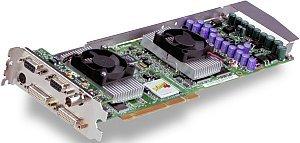 3Dlabs Wildcat4 7210, 2x P10, 384MB DDR, 2x DVI, Genlock, 2x VGA, AGP Pro