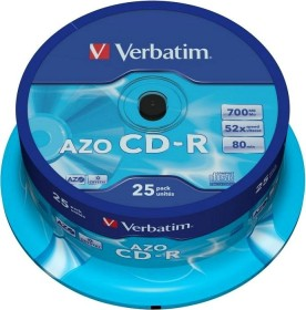 Verbatim Azo Crystal CD-R 80min/700MB 52x, 25-pack Spindle (43352)